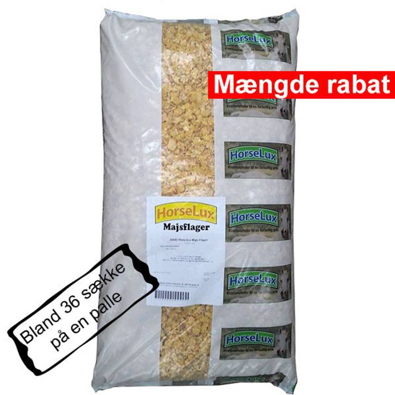HorseLux Majsflager 15 kg