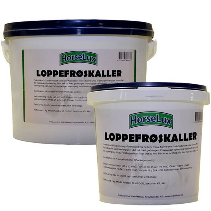HorseLux Loppefrøskaller 1 og 3kg