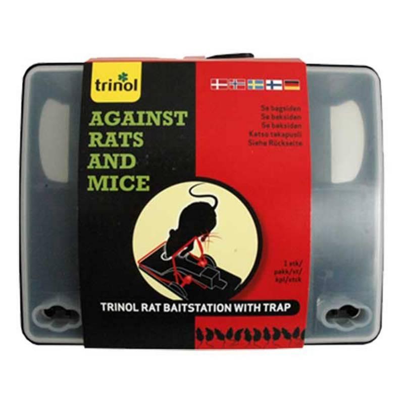 Rotte- musefoderstation med smækfælde