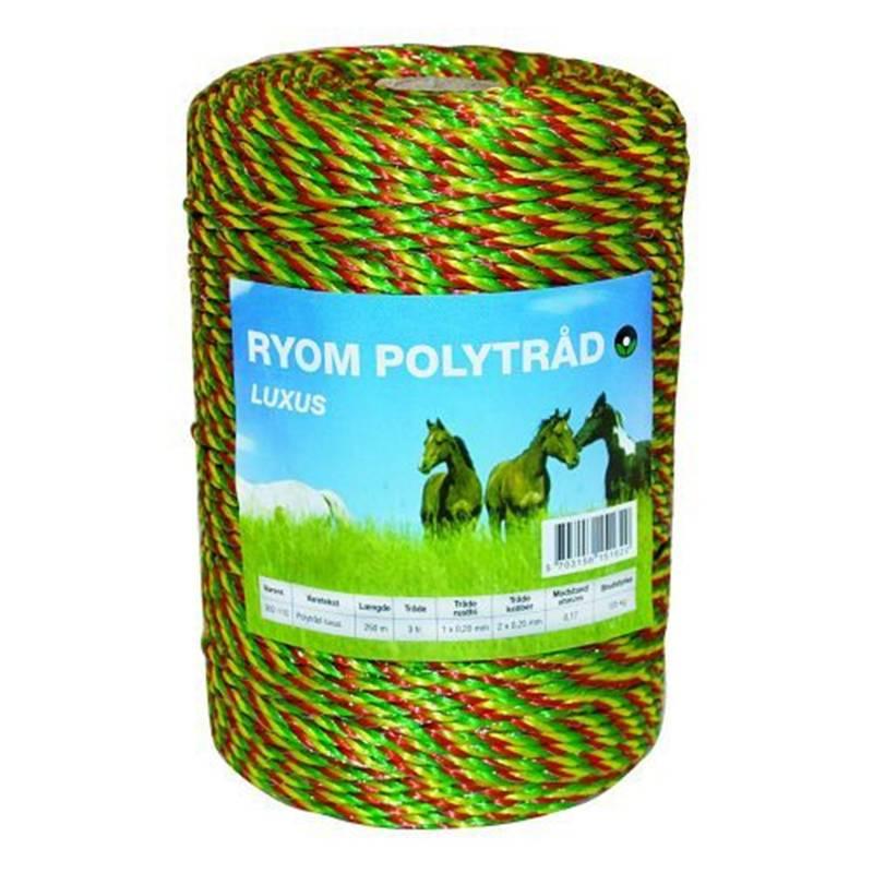 Polytråd 3 farvet 250 meter