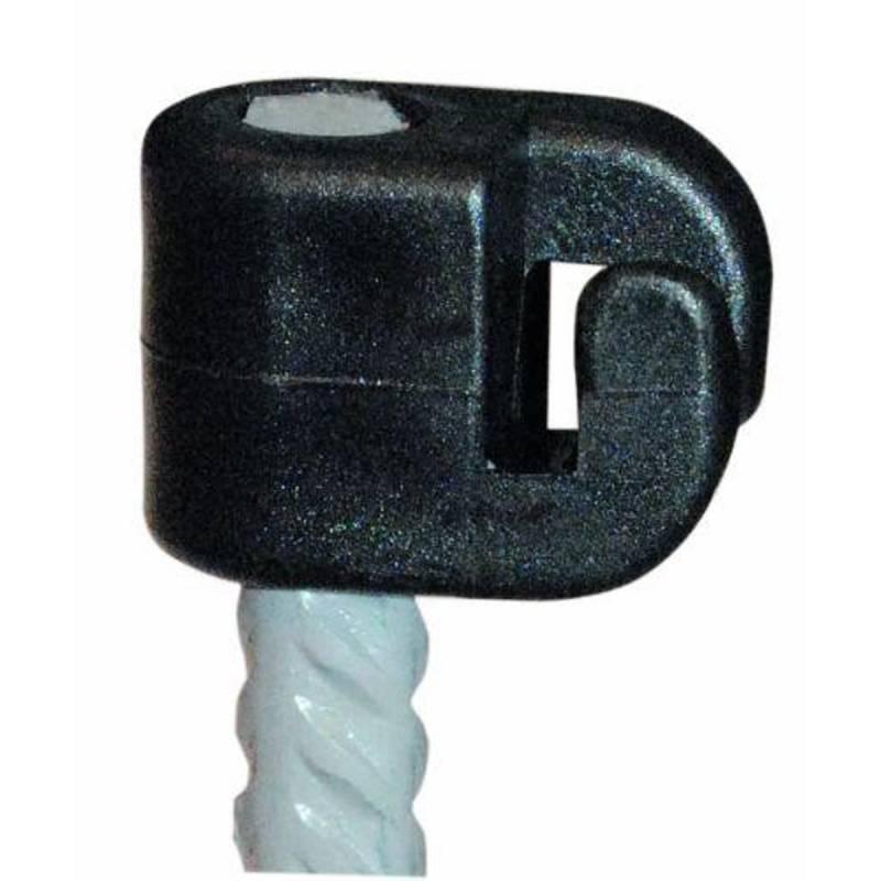Isolator 8 mm sort 100 stk