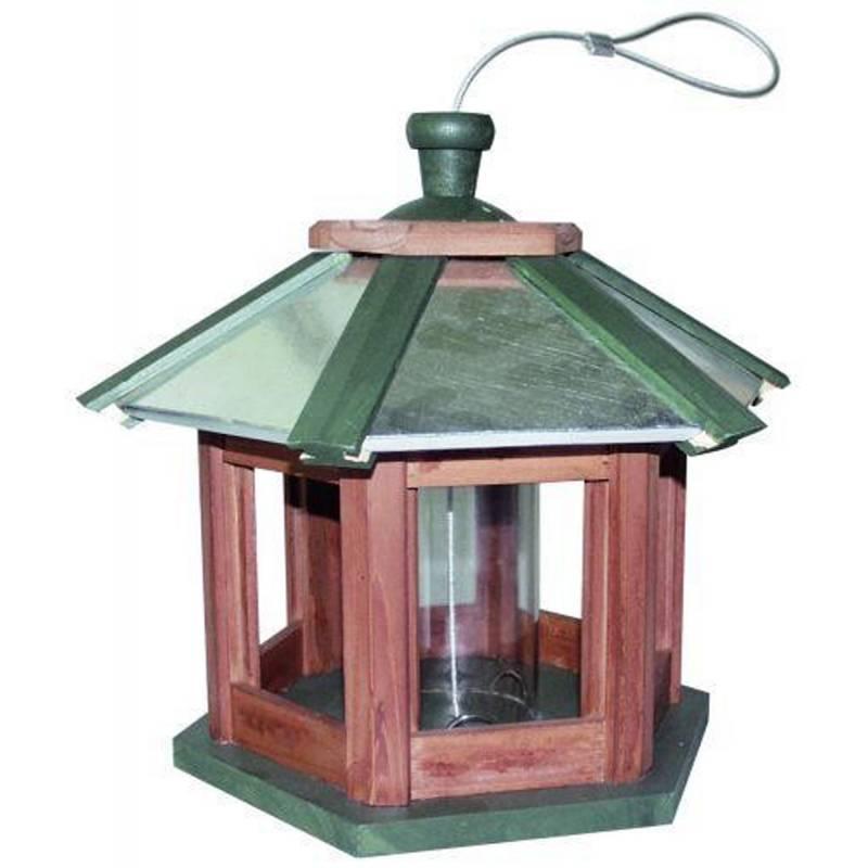 Fugle-foderautomat 6-kantet 34 cm