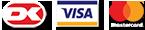 Dankort, Visa, Mastercard